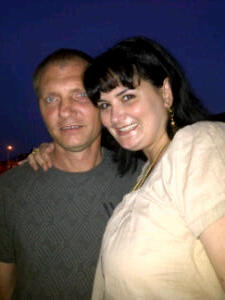 Rentia and her husband, Johan