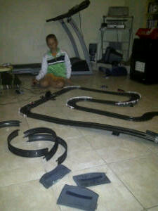 Douglas racing in the man cave