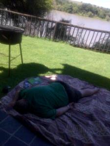Noid sleeping outside