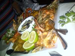 Our complimentary seafood platter