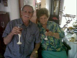 Oupa Joe and Ouma Rentia on their 60th wedding anniversary