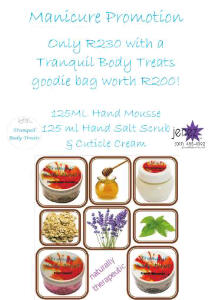 Tranquil Body Treats & Jenez Manicure Promotion