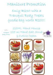 Tranquil Body Treats & Jenez Manicure Promotion