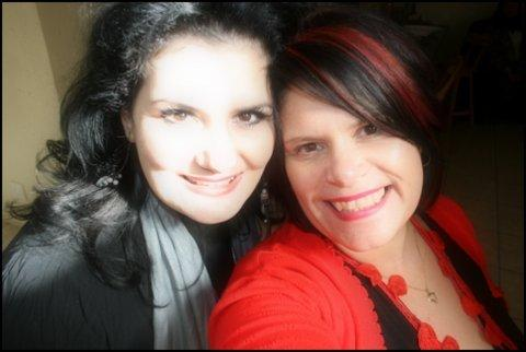 My sister, Rentia and I at my birthday party in June 2012.