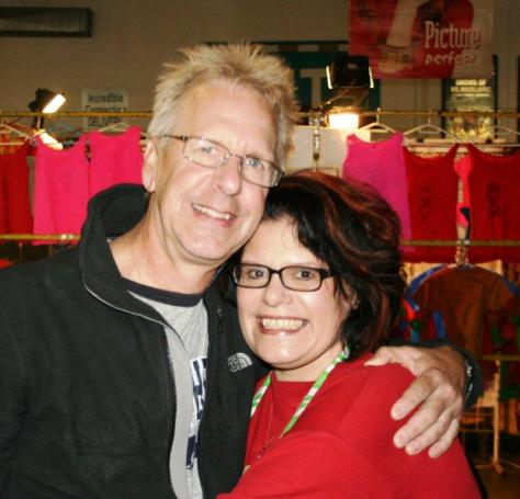 Kirk and I at the Rosebank Rooftop Market.