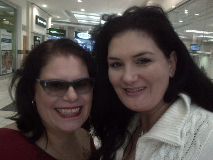 My younger sister, Rentia and I.